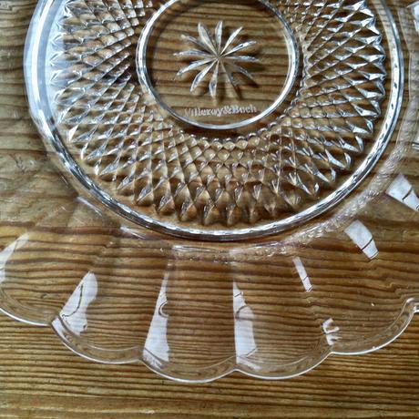 Villeroy&Boch /ビレロイ&ボッホ社/ガラスケーキ皿 2枚セット