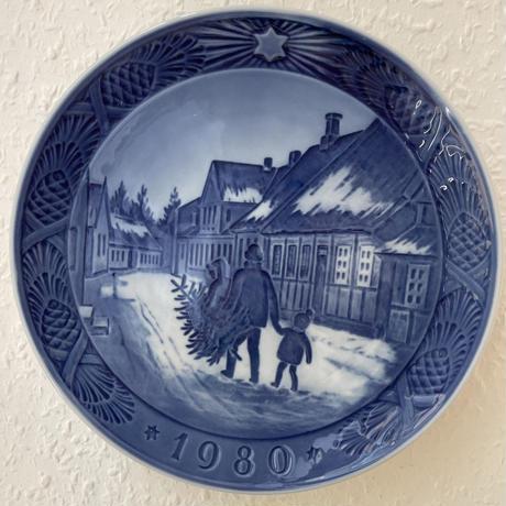 デンマーク/ロイヤルコペンハーゲンROYAL COPENHAGEN/イヤープレート1980年