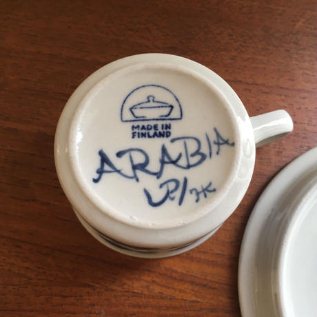 ARABIA/アラビア/ANEMONEアネモネ/デミタスカップ&ソーサー