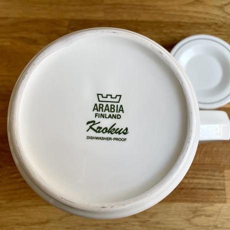 フィンランド/ARABIAアラビア社/Krokusクロッカス/コーヒーポット・ティーポット