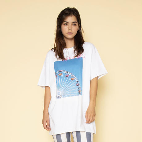STRIPE  PHOTO  TEE by PALM/STRIPES