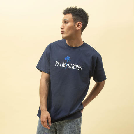 PALM/STRIPES LOGO  TEE  2