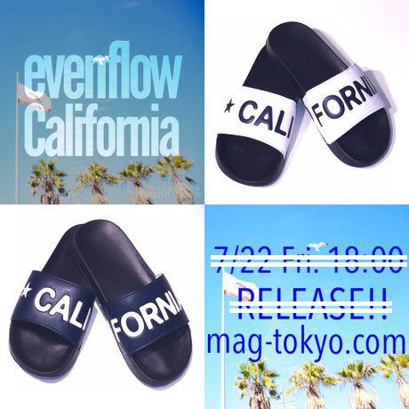 テールスライド スライドサンダル カリフォルニア