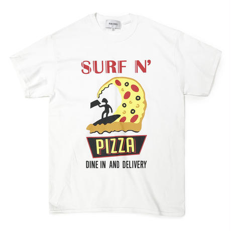 SURF N' PIZZA TEE by PALM/STRIPES