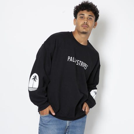 LOGO  SWEAT  CREW   by  PALM/STRIPES