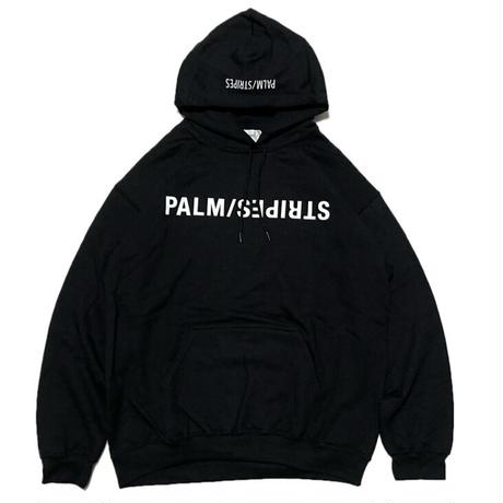 UPSIDE-DOWN  LOGO HOODIE   by  PALM/STRIPES
