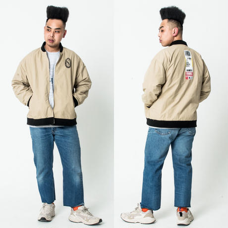 P/S AIRLINES JACKET #sand by  PALM STRIPES