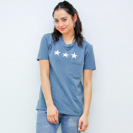 PALM/STRIPES ★ P/D  POCKET   TEE