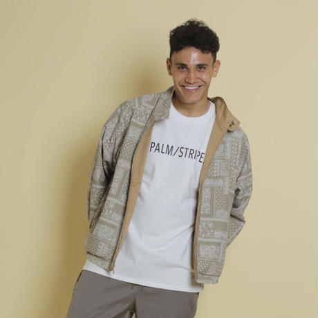 REVERSIBLE DAD JACKET by  PALM STRIPES #Beige