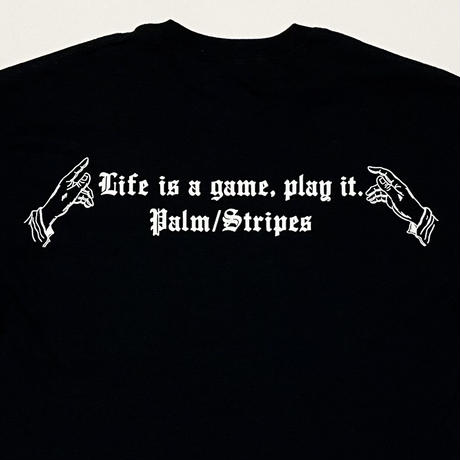 LIFE IS A GAME POCKET TEE by  PALM/STRIPES