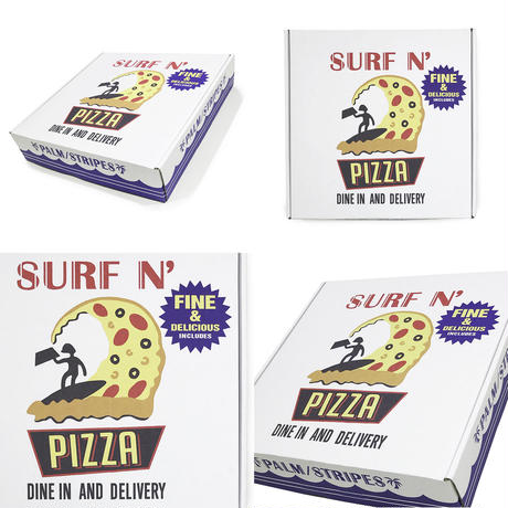 SURF N' PIZZA  CREW   by  PALM/STRIPES