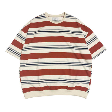 BORDER S/S SWEAT by  PALM/STRIPES