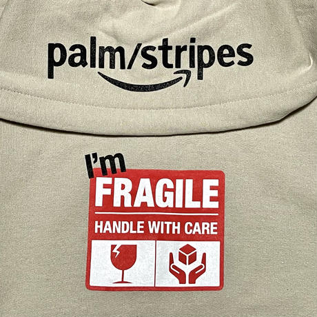 FRAGILE HOODIE   by  PALM/STRIPES