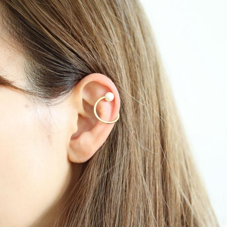 double pearl ear cuff【E58-311G】