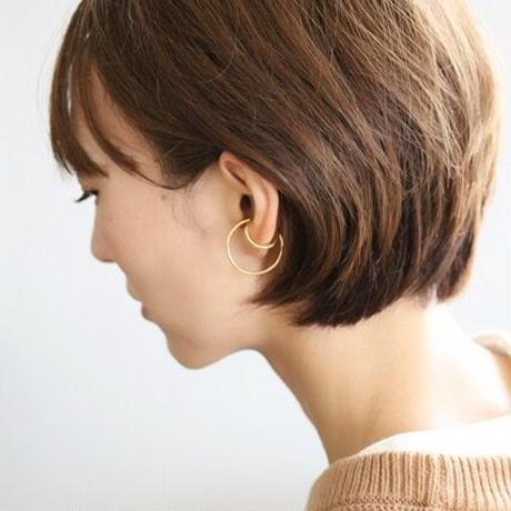Double line Earcuff 毎日のイヤカフ (gold/silver) 【E47-321S/G】