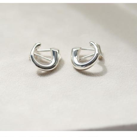 Horn Clip Earring(シルバー) 【E52-332S】