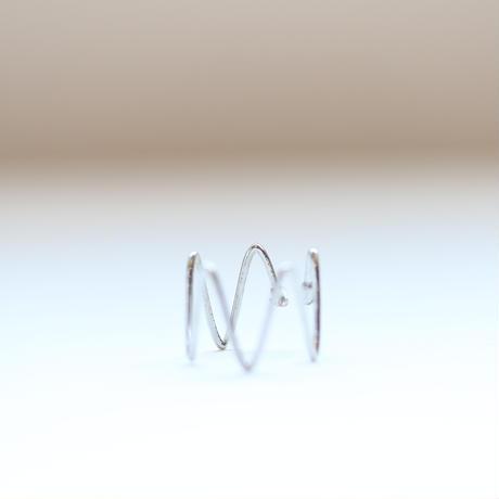 【9月号VoCE掲載】rhythm  ear cuff(シルバー)【E41-311S】
