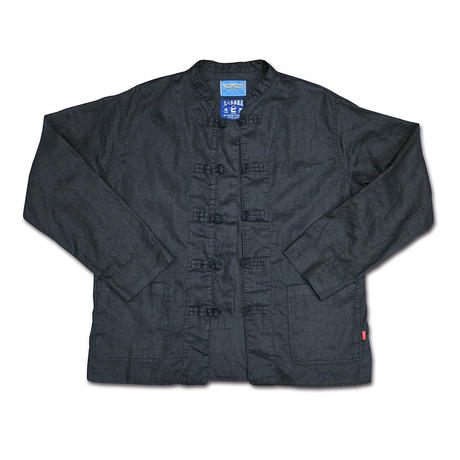 FORMAL BLACK LINEN KUNG-FU SHIRTS
