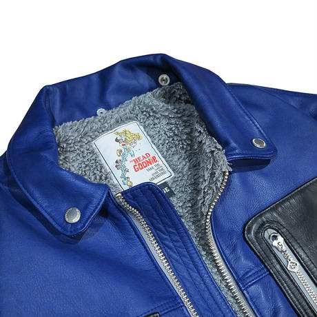INDIGO LEATHER JACKET