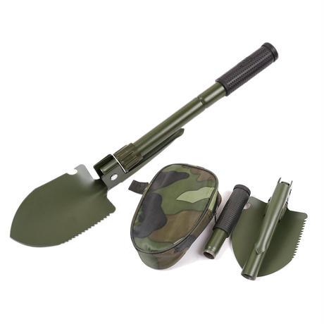 多機能軍事ポータブル折りたたみキャンプシャベルサバイバルスペードこてディブル緊急ガーデン屋外ツールマルチツール