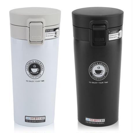 380ミリリットルダブル壁ステンレス鋼コーヒー魔法瓶カップマグ漏れ防止サーマルボトルthermocupファッション真空フラスコカップ新しい