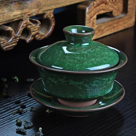 2018新しい到着コーヒーティーセットアイスクラックセラミックティーポットgaiwan茶カップ中国カンフー茶セット
