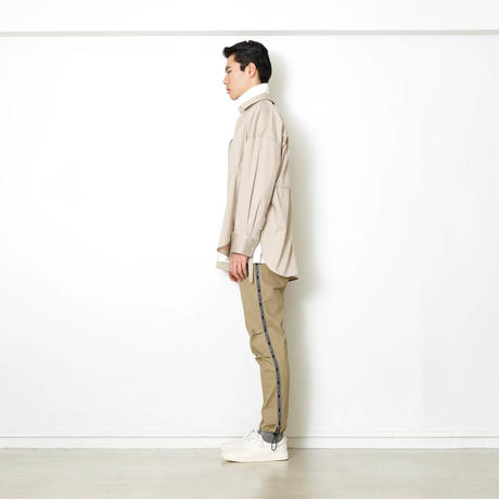 BIG SILHOUETTE SIDE RIBBON SHIRT/BEIGE/EZS0190003