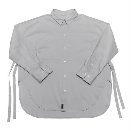 BIG SILHOUETTE SIDE RIBBON SHIRT/ICE GREY/EZS0190003