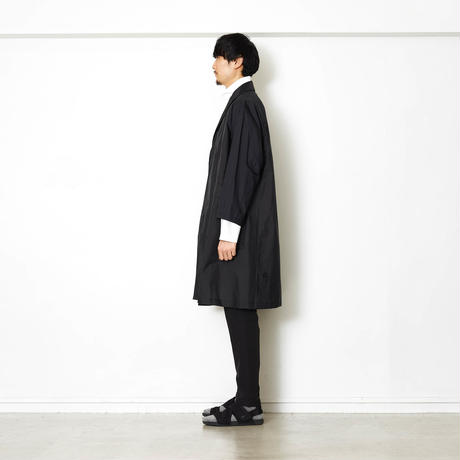 PACKABLE TRANSPARENT LONG COAT/BLACK/EZC0190002