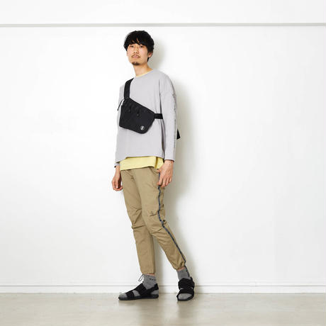 EXZ-LOGOTYPE LINE TAPE CROPPED PANTS/BEIGE/EZP0190006
