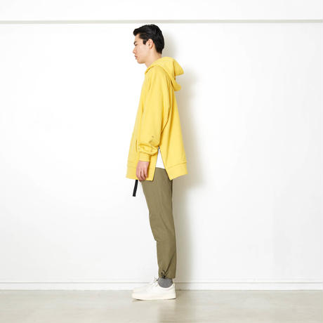 SIDE-ZIP FOODIED SWEATSHIRT/YELLOW/EZT0190004