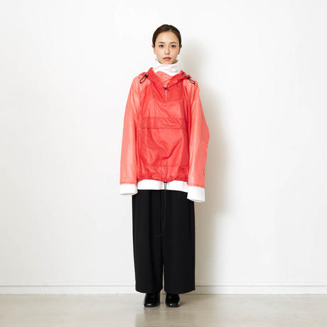 PACKABLE BI COLOR ANORAK JACKET/RED/EZB0190004