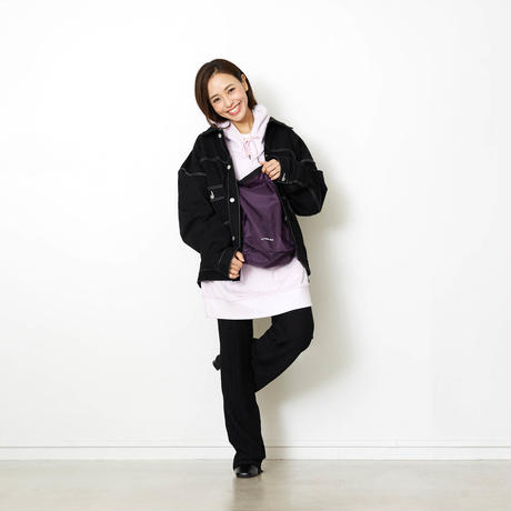 COLOR STITCHING BIG BLOUSON/BLACK/EZB0190002