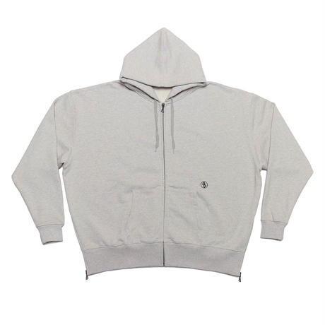 SIDE-ZIP FOODIE/HEATHER GREY/EZT0190002