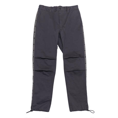 EXZ-LOGOTYPE LINE TAPE CROPPED PANTS/CHARCOAL/EZP0190006