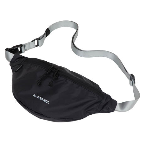 PACKABLE LIP-STOP BUM BAG/BLACK*GREY/EZZ0190003