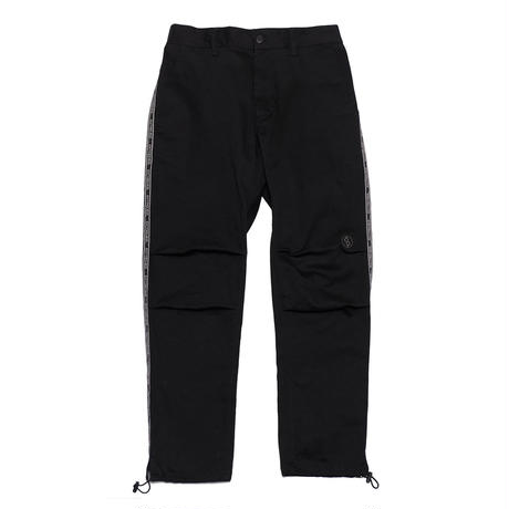 EXZ-LOGOTYPE LINE TAPE CROPPED PANTS/BLACK/EZP0190006