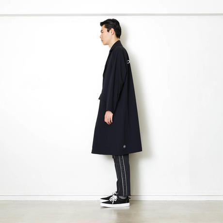 PACKABLE NYLON LIP-STOP LONG COAT/BLACK/EZC0190001