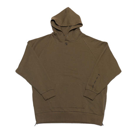 SIDE-ZIP FOODIED SWEATSHIRT/OLIVE/EZT0190004