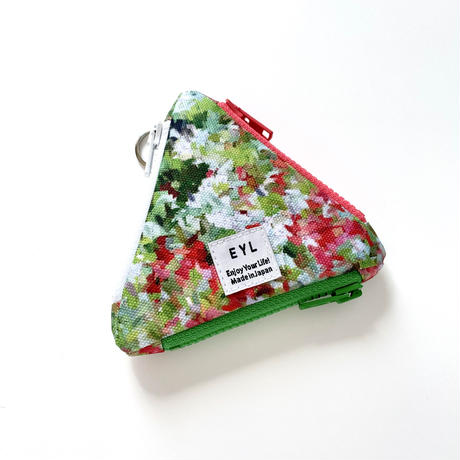 """EYL triangle coin purse """"Impression of Flowers"""""""