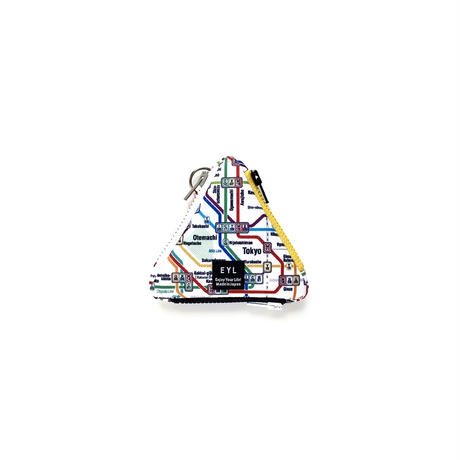 "EYL triangle coin purse ""Tokyo Subway Map"""