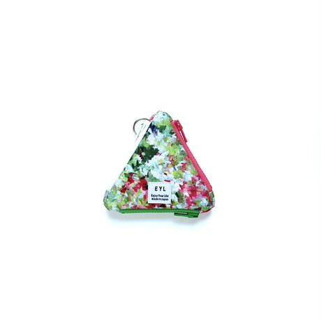 "EYL triangle coin purse ""Impression of Flowers"""