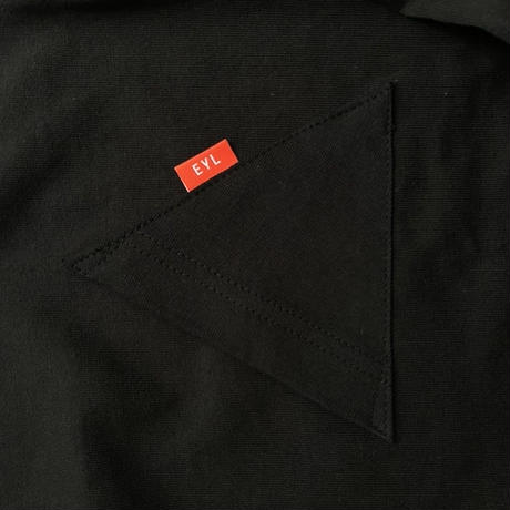 "EYL ""Triangle Pocket L/S TEE"" BLACK"