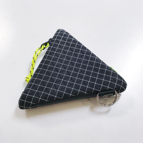 EYL coin purse Dyneema 210 denier X-grid Black × Lime