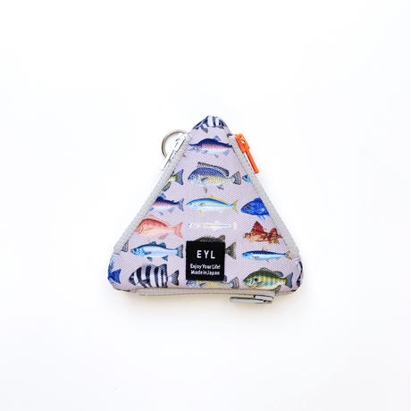 "EYL triangle coin purse ""Fish Book"""