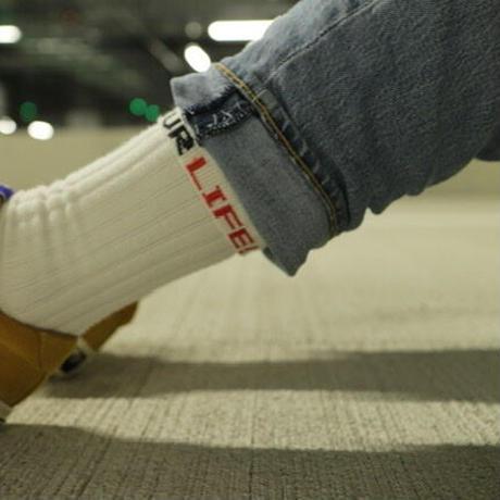"""ching & co.× EYL """"Plane -white-"""" Socks 1P"""