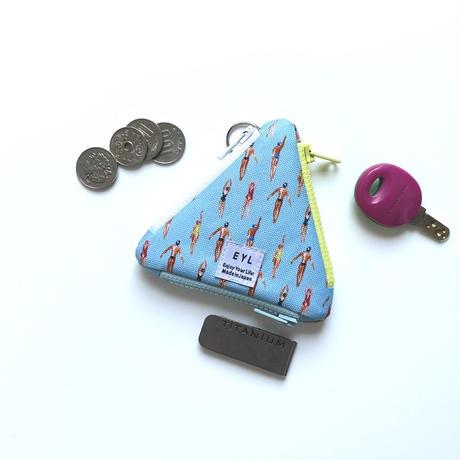 "EYL triangle coin purse ""Swim"""