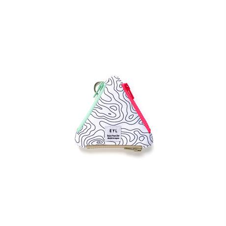 "EYL triangle coin purse ""Contour Map"""
