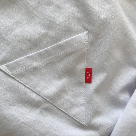 "EYL ""Triangle Pocket L/S TEE"" White"