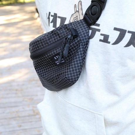 """EYL """"Waist Bag"""" 210D HDPE X-Grid Black"""